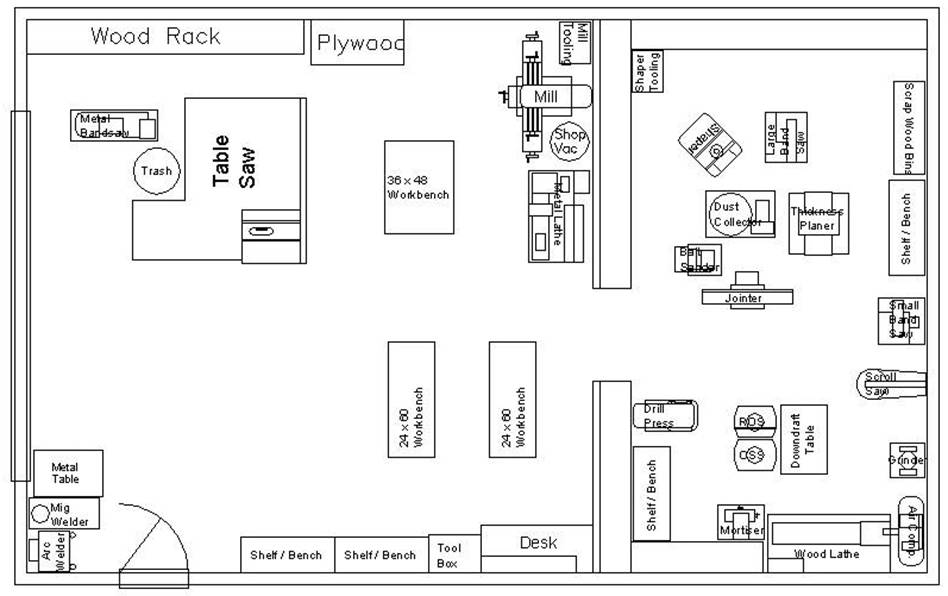 Cabinet shop layout gallery lpg cb for Store floor plan maker